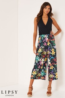 Lipsy 2 In 1 Floral Halter Culotte Jumpsuit
