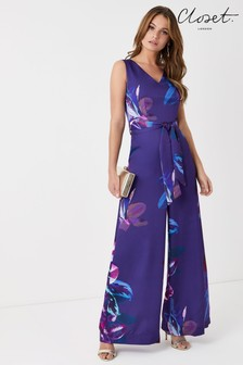 Closet Floral Wide Leg Jumpsuit