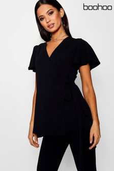 Boohoo Maternity Wrap Top