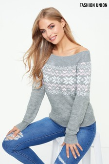 Fashion Union Fair Isle Jumper
