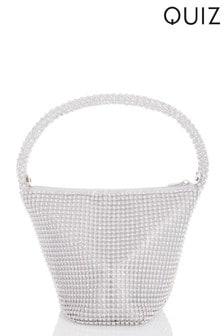 Quiz Diamanté Pouch Handle Bag