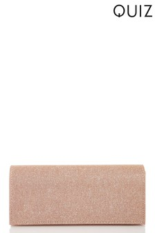 Quiz Two Tone Clutch Bag