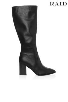 Raid Knee High Block Heel Boot