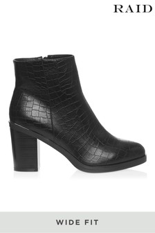 Raid Wide Fit Block Heel Ankle Boot