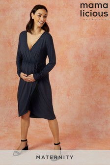 Mamalicious Maternity Wrap Jersey Dress