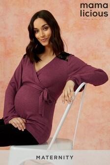 Mamalicious Maternity Lace Jersey Dress