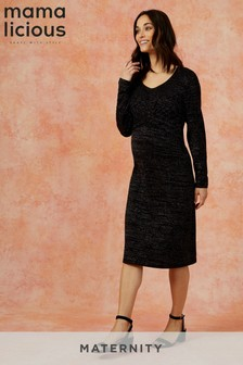 Mamalicious Maternity Lurex Dress