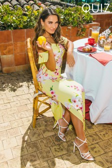 Quiz Sam Faiers x Cold Shoulder Maxi Dress