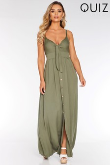 7a2fcdd32 Quiz Tie Front Maxi Dress