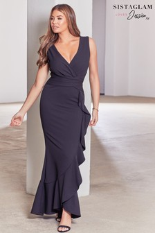 Sistaglam Loves Jessica Bodycon Maxi Dress