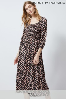 Dorothy Perkins Tall Ditsy Floral Shirred Dress