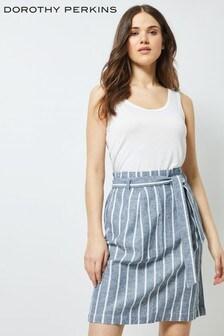 Dorothy Perkins Tall Tie Waist Linen Skirt
