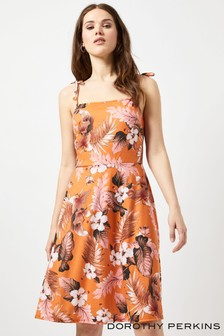 Dorothy Perkins Tall Sleeveless Tropical Jersey Cami Dress