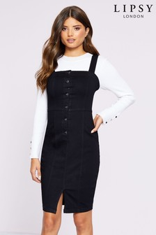 Lipsy Denim Button Through Dress