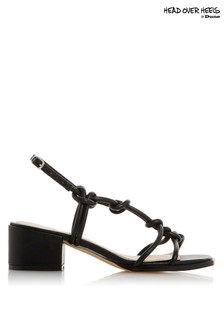 Head Over Heel Strappy Block Heel Sandal