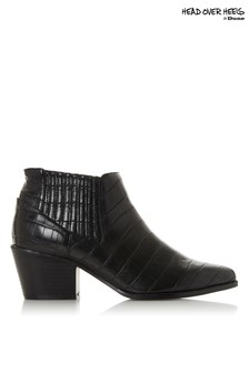 Head Over Heels Western Ankle Boots