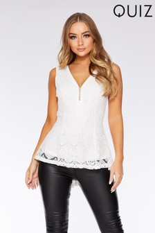 Quiz Lace Peplum Top