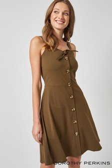 Dorothy Perkins Plain Button Through Cami Dress