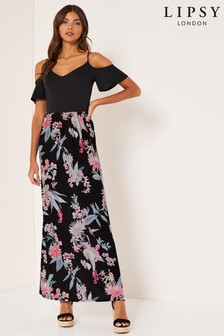 Lipsy Amy Print 2-In-1 Maxi Dress