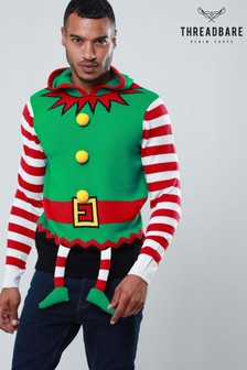 Threadbare Elf Suit Christmas Jumper