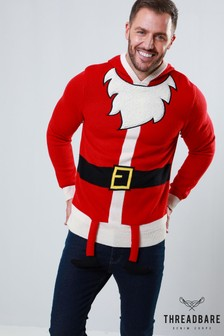 Threadbare Santa Suit Christmas Jumper