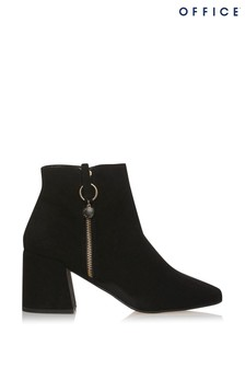 Office Anthe Zip Heeled Ankle Boot