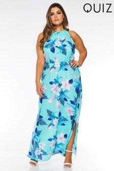 Quiz Curve Chiffon Maxi Dress