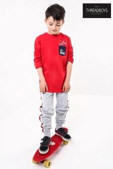 Threadboys Contrast Pocket Long Sleeve Jersey