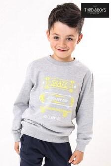Threadboys Neon Skate Print Sweater