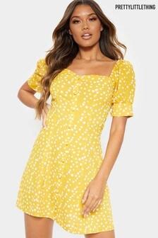 PrettyLittleThing Polka Dot Skater Dress