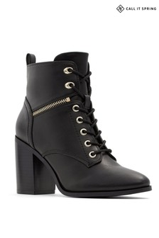 Call It Spring Lace Up Hiker Block Heel Boots