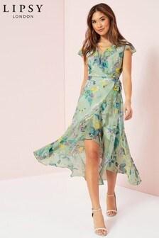 Lipsy Gracie Print Wrap Dress