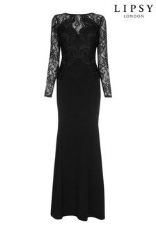 Lipsy Sansa Lace Appliqué Maxi Dress