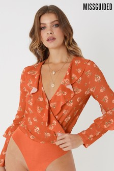 Missguided Wrap Front Bodysuit