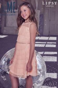 Ярусное сетчатое платье с плиссировкой Lipsy Girl