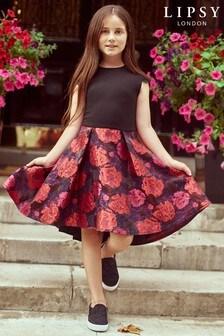 Lipsy Girl Floral Jacquard 2 In 1 Dress