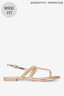 Dorothy Perkins T-Bar Wide Fit Sandals