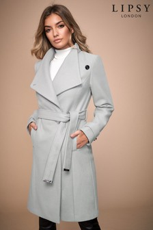 Lipsy Wool Blend Belted Coat