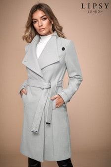 Lipsy Wool Blend Belted Coat