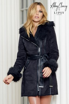 Abbey Clancy x Lipsy Bonded Faux Fur Coat