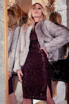 Abbey Clancy x Lipsy Faux Fur Tipped Coat