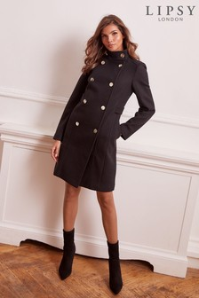 Lipsy Wool Blend Military Coat