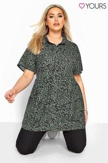 Yours Curve Animal Print Smock Shirt