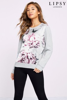 Lipsy Floral Satin Sweat