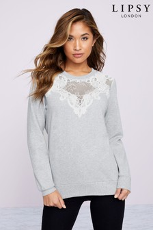 Lipsy Lace Sweat