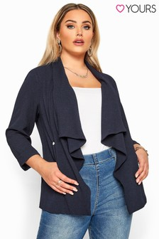Yours Curve Clothing Crepe Waterfall Jacket