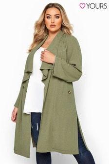 Yours Crepe Longline Jacket