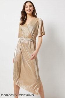 Dorothy Perkins Plisse Kimono Sleeve Dress