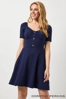 Dorothy Perkins Sweetheart Button Detail Dress