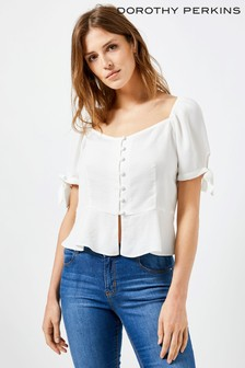 Dorothy Perkins Square Neck Milk Maid Top